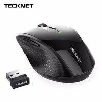 TeckNet Alpha Ergonomic 2 4G Wireless Mouse Slient Button With USB Nano Receiver For Laptop PC
