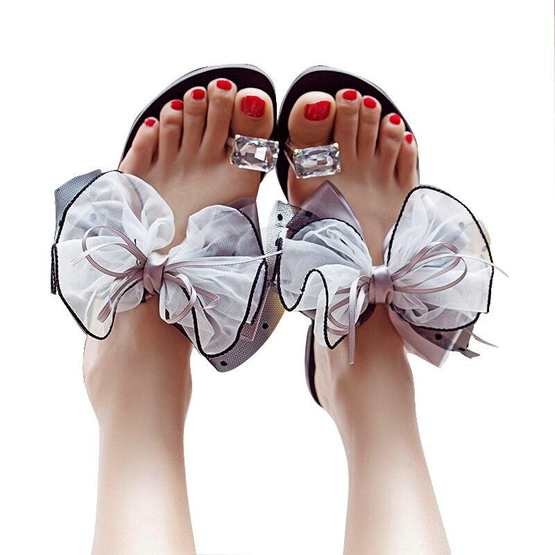 Color sweet slippers wear