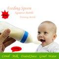 2016 Squeeze Bottle 90 ML de Alimentação Do Bebê Do Silicone Colher Cereal de Arroz Suplemento Alimentar Cereal Colher-fed Treinamento Garrafa de Bebes