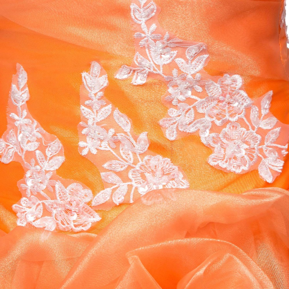 Orange Amazing Ball Gown Quinceanera Dresses Real Photos Prom Gowns Birthday Dresses 2017 Appliques Vestidos De 15 Anos - 2