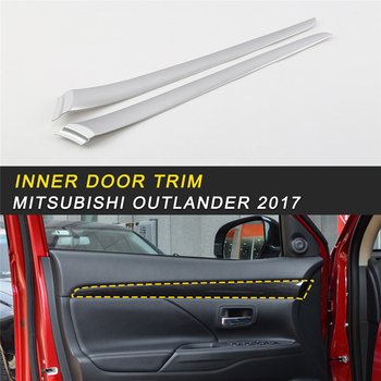 Inner Door Window Cover Frame Trim Sticker Interior Accessories for Mitsubishi Outlander 2017 Car Styling