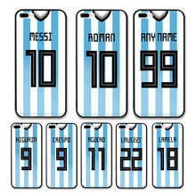 European Football Argentina National Team Jersey style Messi Roman Custom Names and Numbers case for iPhone 7 PLUS Phones cases