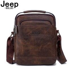 Jeep buluo viagem dos homens novas bolsas venda quente masculino grande divisão de couro saco do mensageiro homem moda crossbody sacos ombro