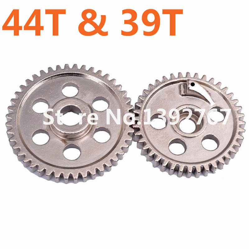 2Pcs/Lot RC Car Spare Parts 02040 02041 HSP Metal Steel Diff.Main Gear (44T)&(39T) For 1/10 Scale Models On Road Car Nitro Power