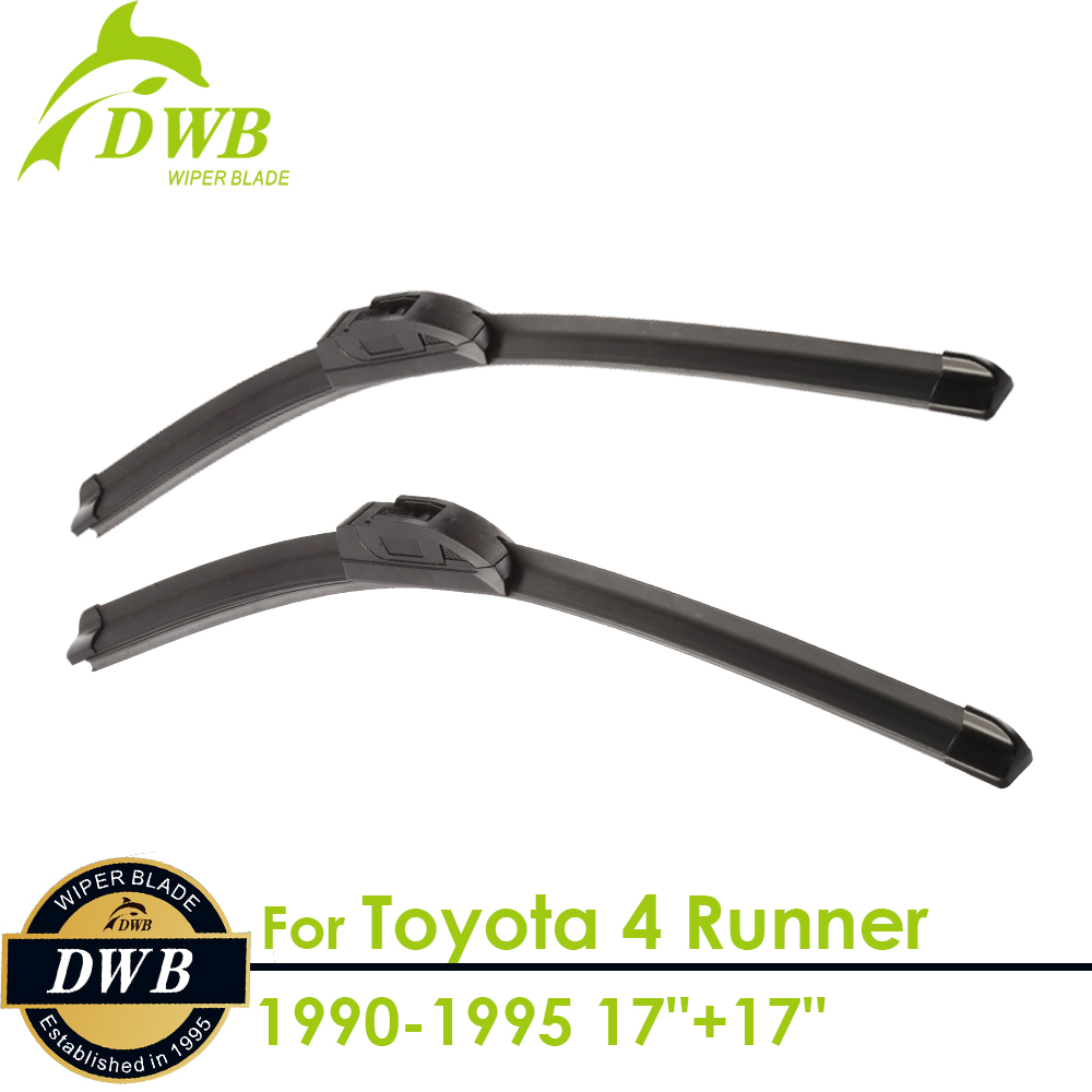 Wiper Blades for Toyota 4 Runner 1990-1995 17+17, 2pcs free shipping, Replacing Windshield Wipers