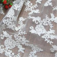 New High quality patchwork fabric mesh french tulle fabric in lace white french lace fabric for wedding dress Sold by yard