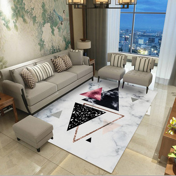 Nordic Style Geometric Marble Pattern Carpets for Living Room Rug Coffee Table Yoga Floor Mat Bedroom Bedside Rectangle Blanket