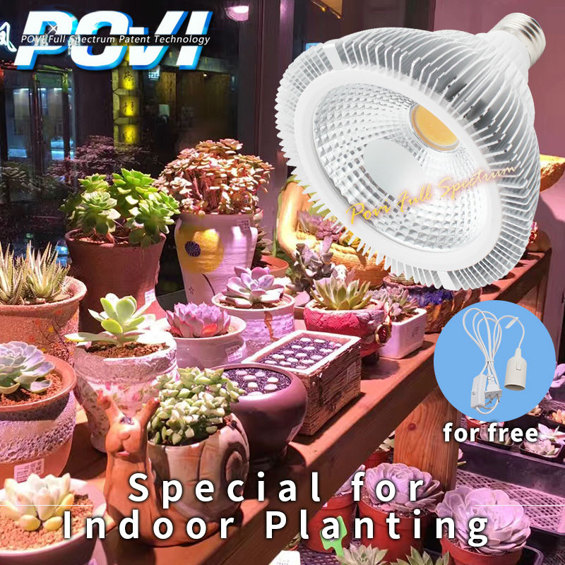 POVI Full Spectrum LED Grow Light E27 PAR38 Garden Lamps AC85~265V LED Hydroponics Lamps For Flowers and Plants
