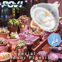 POVI pełnozakresowe LED rosną światła E27 PAR38 ogród u nas państwo lampy AC85 ~ 265 V LED hydroponika u nas państwo lampy do kwiatów i roślin