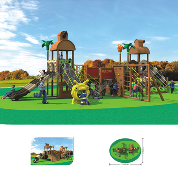 YLW-OUT17921 Kindergarten Wooden plastic Playground Equipment CE/TUV/ISO climbing net Safety Kids Outdoor Play Facilities