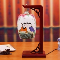 Chinese Style Modern Wedding Gift Ofhead Eggshell Ceramic Lamp Table Lamp