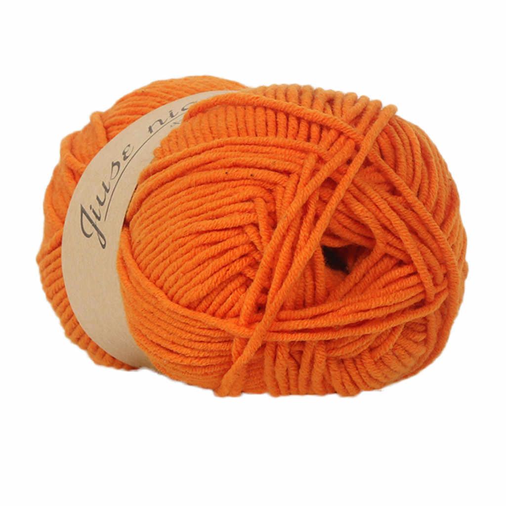 Hot bán 1 PC 50g crochet sợi Chunky Tay Đầy Màu Sắc Đan Bé Sữa Bông Crochet Dệt Kim Len merino đan len sợi