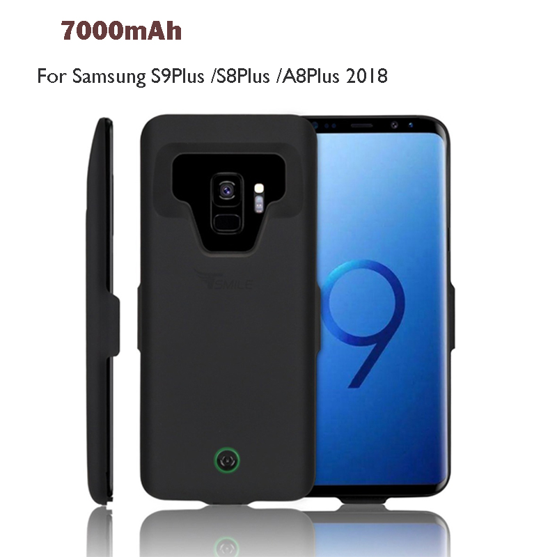 7000mAh Power Bank Case Pack Backup Battery Charge Universal For Samsung Galaxy S9Plus/S8Plus /A8Plus 2018 Battery Case Cover7000mAh Power Bank Case Pack Backup Battery Charge Universal For Samsung Galaxy S9Plus/S8Plus /A8Plus 2018 Battery Case Cover