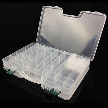 1 pièces 29.5*19*6 cm boîtes de matériel de pêche accessoires de pêche cas leurre de poisson hameçons d'appât outil de rangement pivote crochets leurre