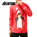 Jolintsai Unisex Ugly Christmas Sweater Men/Women Polo Pullover Knitted Male Sweaters O-neck Jacquard 5XL Chompas Hombre Jumper