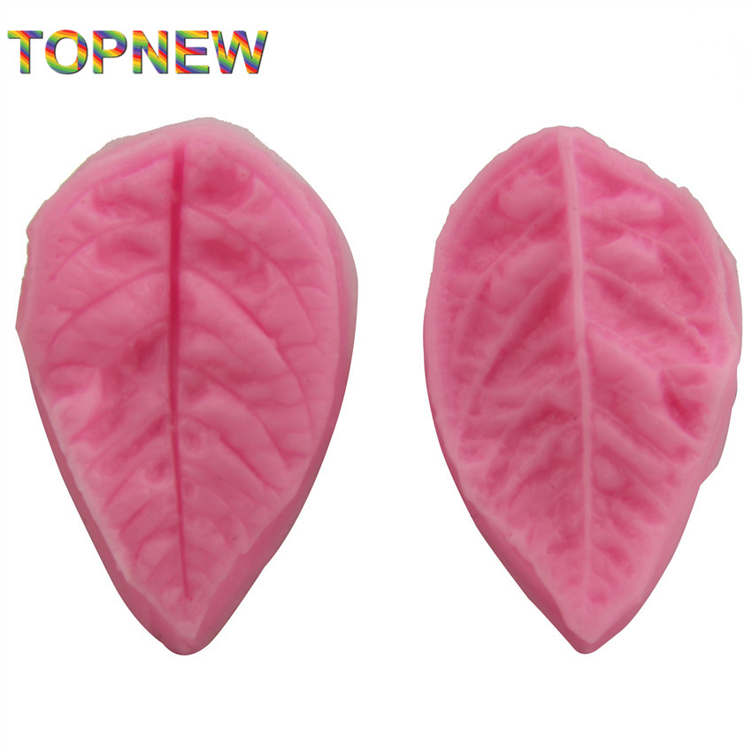 2pcs leaf shape silicone soap mold,Fondant Cake Decorating styling Tools, bakeware,cooking tools kitchen accessories 2297