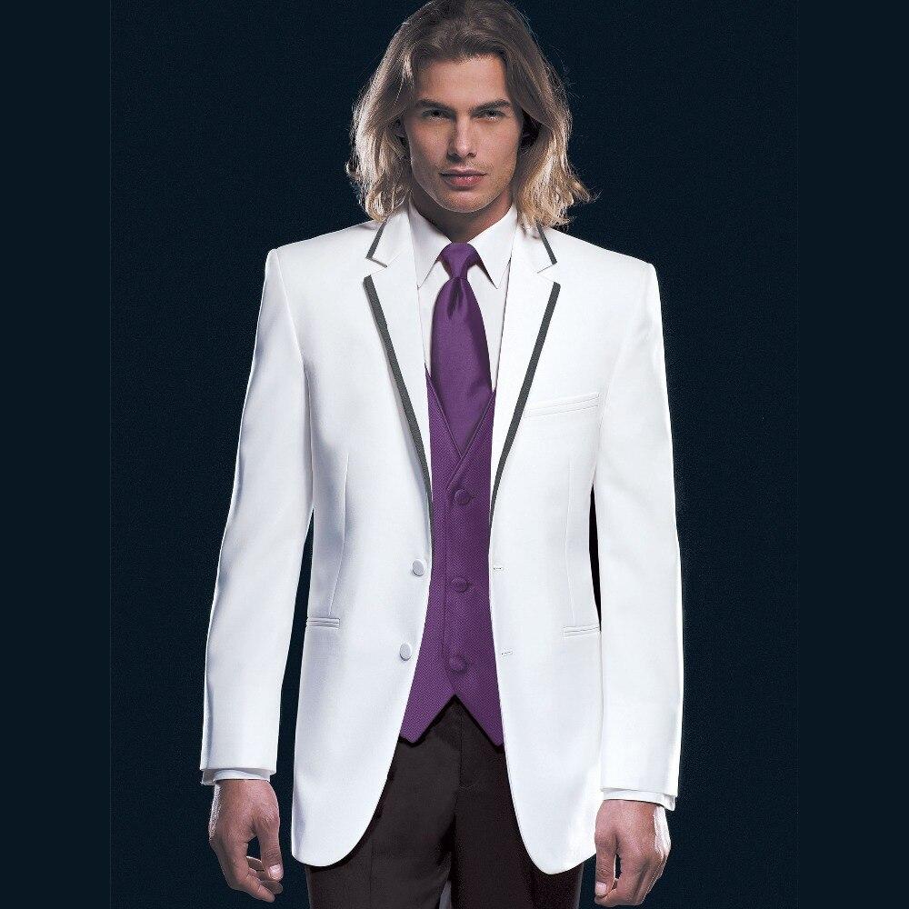Nach Maß Zu Messen Tailored Bespoke Nahen Grau MÄnner AnzÜge; Breiten Spitzen Revers; Zweireiher Anzüge jacke + Pants + Tie + Tasche Platz