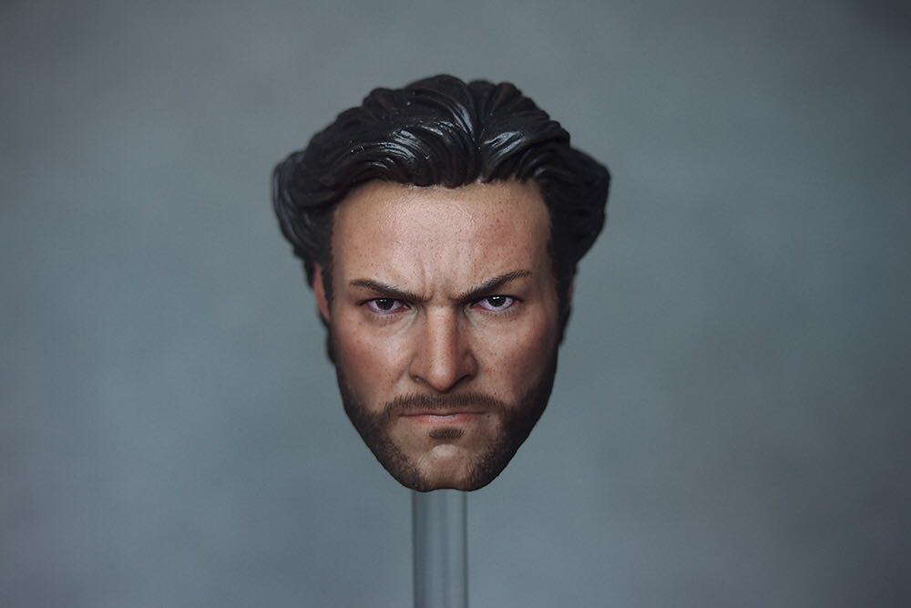 1/6 scale figure doll head shape for 12 action figure doll accessories Wolverine X-Men Hugh Jackman male Head carved 1 6 scale figure doll head shape for 12 action figure doll accessories iron man 2 whiplash mickey rourke male head carved