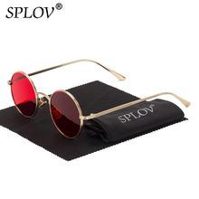 SPLOV, Gafas de sol Vintage para hombre, Gafas de sol estilo Punk Retro, montura redonda de Metal, lentes coloridas, a la moda Gafas de sol, Gafas de sol para mujer
