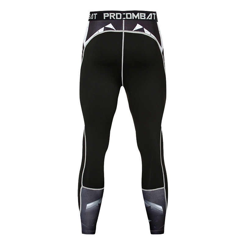 3D printed letter suit compression slim hips tight pants 1