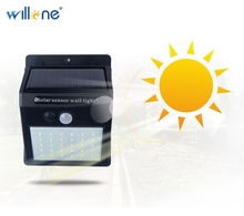 Free Shipping 4 SETS 20 LED Solar Light Motion Sensor Fence Lamps Home Garden Solar Powered Wall Lamp Yard Balcony Light Outdoor