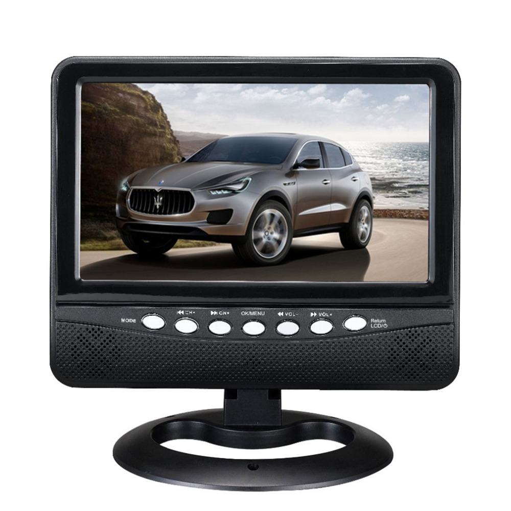 ФОТО 7 inch Digital Multimedia Portable TV With TV Black Color Wide View Angle