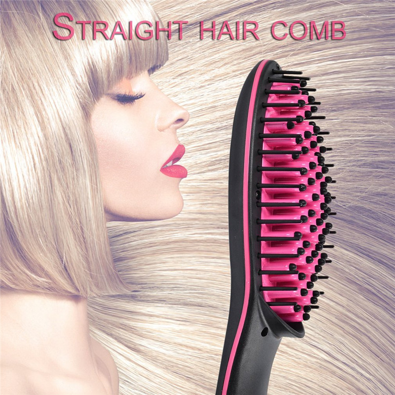 Professional LCD Display Fast Hair Straightener Comb No Harm Hair Electric Smooth Hair Straight Brush For Salon Hair Styling