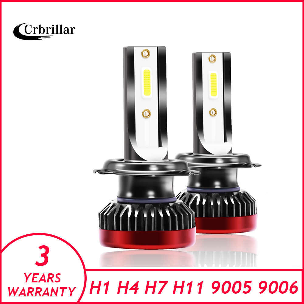 Crbrillar Mini H4 Led H7 with Lumileds COB 6500K LED 12000LM 80W/set  H1 Bulb HB3 9005 9006 hb4 Fog Light 4300K H8 H11 6500K