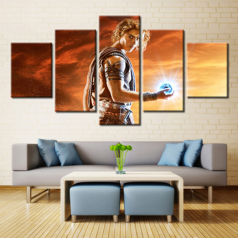 5 Panel Gods Of Egypt Movie Brenton Thwaites Modern Home Wall Decor Canvas Picture Art