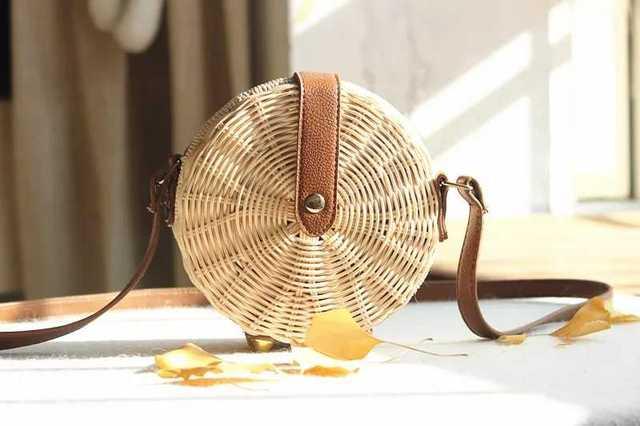 Women Straw Bag Bohemian...