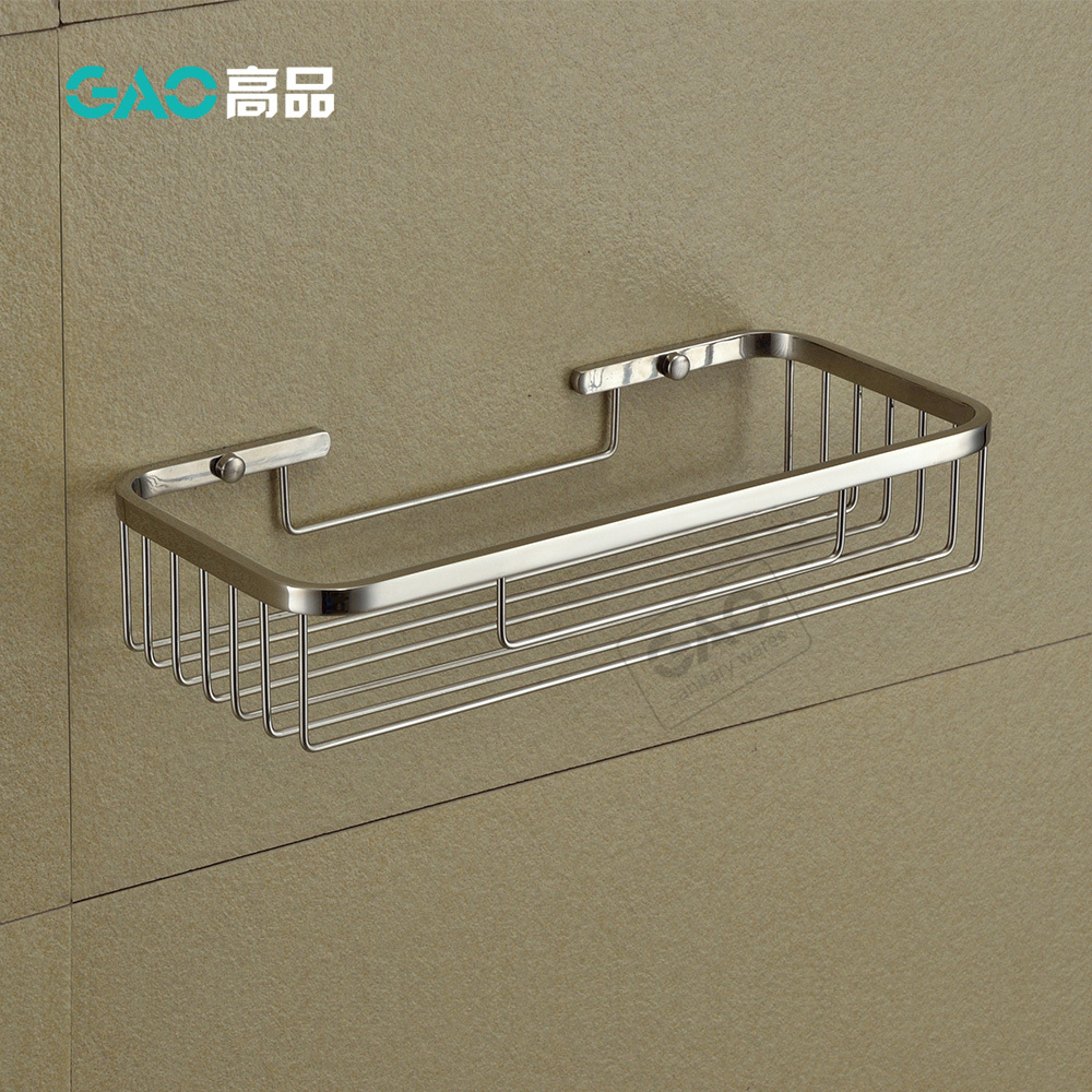 304 Stainless Steel with Front Gap HOMEIDEAS Soap Dish Holder Powerful Adhesive Shower Soap and Sponge Holder Rustproof No Drilling for Bathroom /& Kitchen