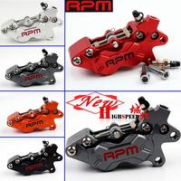 Universal CNC RPM Motorcycle Brake Caliper Left Right 40mm Hole To Hole 4 Piston For yamaha Kawasaki Honda suzuki KTM bmw