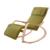 Diseño cómodo Relajarse Silla Con Reposapiés De Madera Mecedora Muebles de Sala Adultos Sillón Reclinable con Cojín de Tela