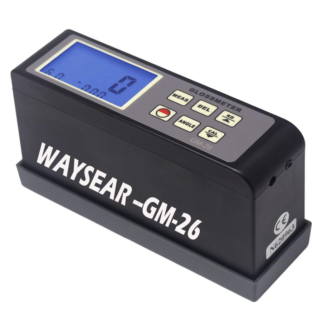 GM-26 Gloss Meter range 0.1-200Gu 20 60 Multi-angle gloss meter Portable digital meter Glossmeter paint gloss meter gloss gloss 15317 01