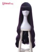 Парик л-электронной новый Cardcaptor Sakura daidouji Томойо Косплэй парики 80 см фиолетовый жаропрочных синтетических волос Perucas Косплэй парик