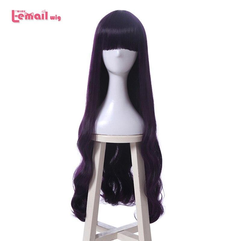 L-email Wig New Cardcaptor Sakura Daidouji Tomoyo Cosplay Wigs 80cm Purple Heat Resistant Synthetic Hair Perucas Cosplay Wig
