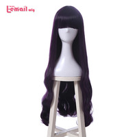 L Email Wig New Cardcaptor Sakura Daidouji Tomoyo Cosplay Wigs 80cm Purple Heat Resistant Synthetic Hair