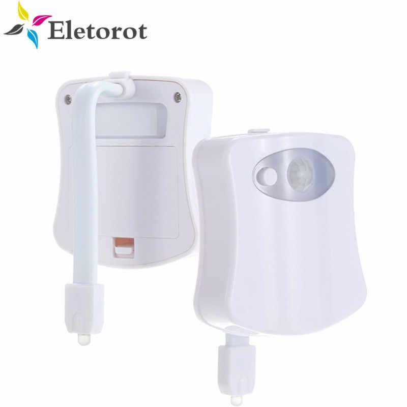 Датчик движения Туалетная подсветка для сиденья 8 цветов подсветка Унитаз Автоматическая Ночная лампа 3 * AAA датчик света Светодиод подсветка для унитаза