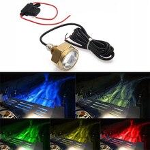 Lámpara subacuática con control remoto para barco, Luz LED resistente al agua IP68, 27W, RGB, enchufe de drenaje para barco, 9 luces LED