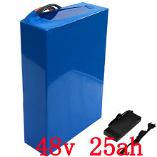 США, ЕС, нет налога на 48В 2000Вт 25Ah литиевая батарея с зарядное устройство 5А построен в 50А БМС Электрический велосипед батарея 48v Бесплатная доставка