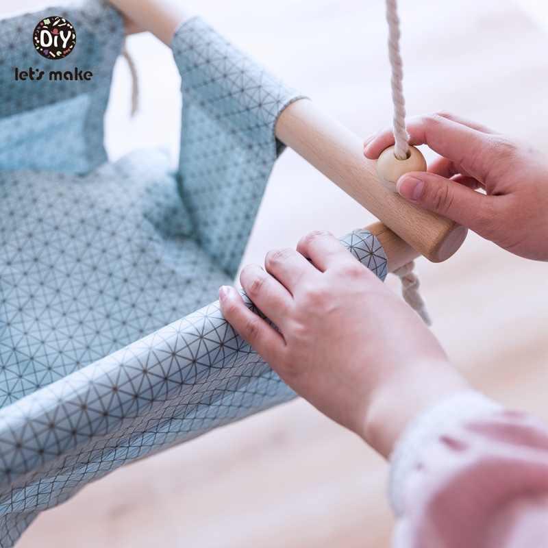 아기 스윙 캔버스 교수형 의자 13-24 개월 교수형 장난감 해먹 안전 아기 경비원 실내 나무 스윙 로커