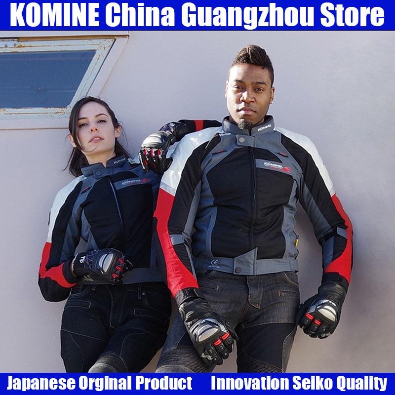 KOMINE Japanese Original Summer Motorcycle Men Jacket Breathable Anti fall Moto Protective Jacket Men Racing Clothing Jacket