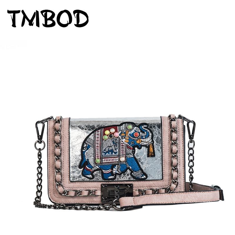 Kupplungen Gepäck & Taschen Witfox Leder Brieftasche Frauen 2019 Luxus Schafe Haut Echtem Leder Schulter Tasche Stickerei Elefanten Muster Damen Taschen Weibliche
