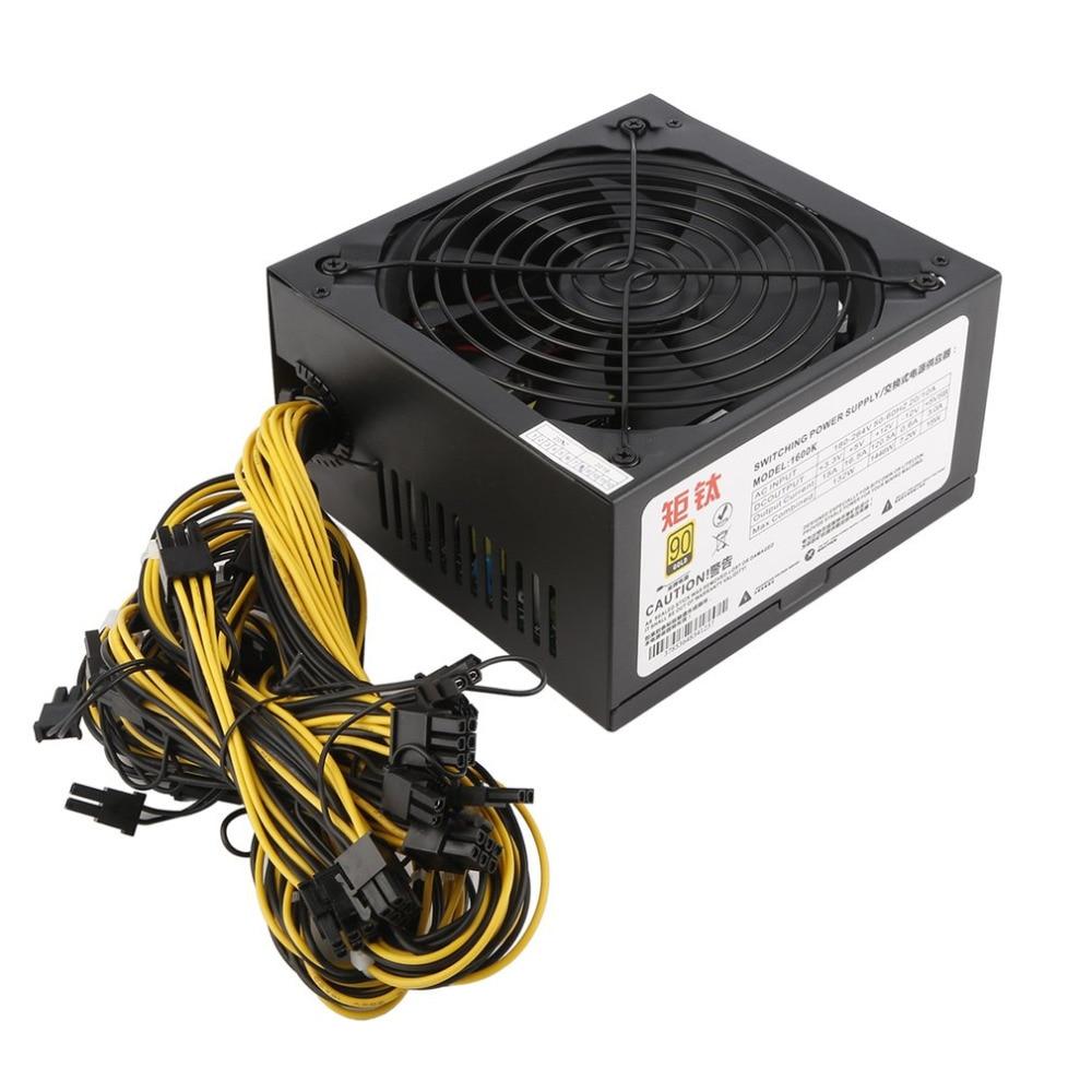 1600W 12V Switching Power Supply for S9 S7 R4 A7 A6 LTC L3 A4 Miner Rig BTB LTC ATC Coin Mining Miner Mining Machine 1600w psu ant s7 a6 a7 s7 s9 l3 miner machine server mining board power supply