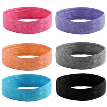 Sport Headband Men Women Head Sweat Band Run Football Tennis Headscarf Silicone Anti-slip Elastic Sweatband HairBand(China)
