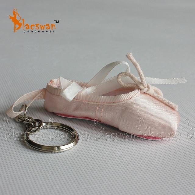 Satin ballet keyring chuyên nghiệp pointe giày vòng chìa khóa giày ba lê key chain wedding lưu niệm ballerina đồng xu ví quà tặng ba lê