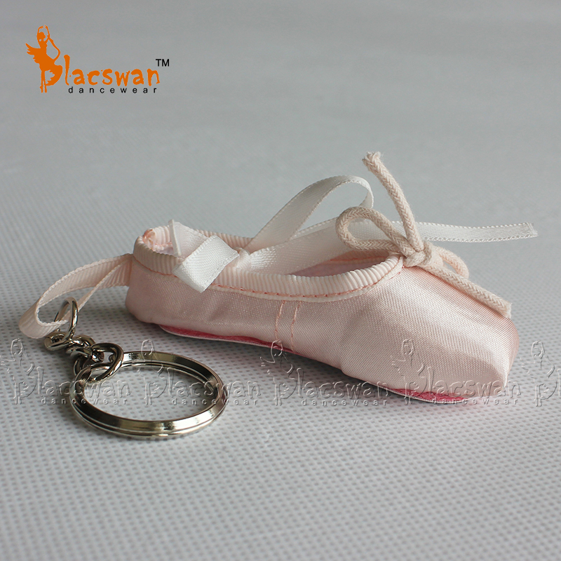 Satin ballet keyring professional pointe shoe key ring ballet shoe key chain wedding souvenir ballerina coin purse gifts ballet