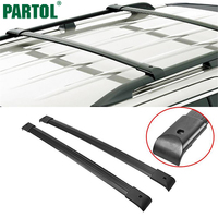 Partol Black Car Roof Rack Cross Bars 150LBS 68KG Aluminum Cargo Luggage Carrier Top For Honda