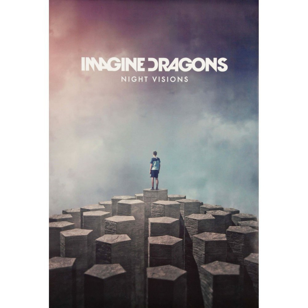Canvas Poster Silk Fabric Trends Intl. Imagine Dragons Night Visions Print Poster  Posters