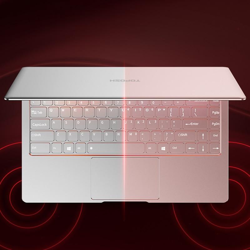 """ram 256g ssd כסף P9-08 6G RAM 256G SSD Intel Celeron J3455 21"""" מחשב שולחני מחברת משחקים ניידת עם מקלדת מוארת (5)"""